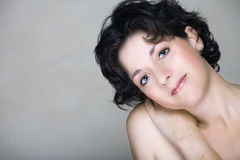 mitt- naturlig kvinna för 30-tal Royaltyfri Fotografi