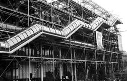 mitt paris pompidou Royaltyfri Foto