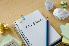 Mitt plan Arkivbilder