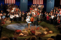Mitt at the podium, Romney Rally Stock Photography