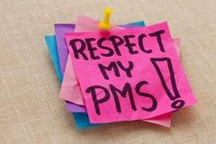 mitt premenstrual respectsyndrom för pms fotografering för bildbyråer