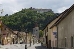 Mitt Rasnov Rumänien royaltyfria bilder