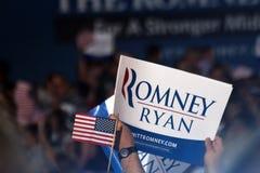 Mitt Romney集会 免版税库存照片