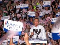 Mitt Romney集会 库存图片