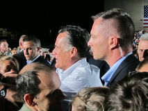 Mitt Romney 42. Current politics presidential campagne speech Colorado 9/24/2012 Royalty Free Stock Photos