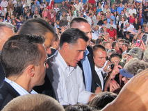 Mitt Romney 44. Current politics presidential campagne speech Colorado 9/24/2012 Stock Image