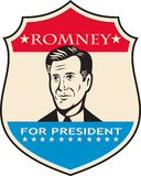 Mitt Romney For American President Shield Stock Photo
