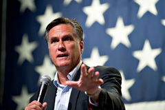 Mitt Romney appears at a town hall meeting in Mesa, AZ Royalty Free Stock Photo