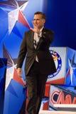 Mitt Romney en el discusión 2012 del GOP Imagenes de archivo
