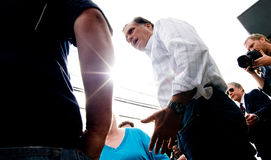 Mitt Romney at a Gas Station Royalty Free Stock Photo