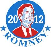 Mitt Romney para el presidente americano 2012 stock de ilustración