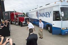 Mitt Romney, Paul Ryan President, Vice Candidates. Candidates for president and vice president Mitt Romney and Paul Ryan are seen on the campaign trail Royalty Free Stock Photos