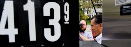 Mitt Romney, preços de gás Imagem de Stock