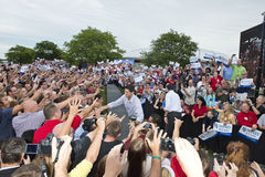 Mitt Romney, presidente de Paul Ryan, candidatos Vice Imagem de Stock