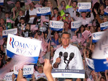 Mitt Romney Rally Stock Images