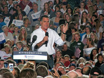 Mitt Romney Rally Stock Image