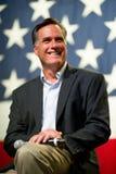 Mitt Romney syns på ett stadshusmöte i Mesa, AZ Arkivbild
