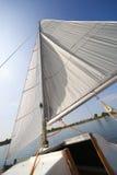 mitt segla den små yachten Royaltyfri Bild