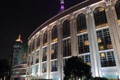 Mitt Shanghai för internationell konferens Shanghai Kina Arkivbild