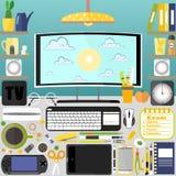 Mitt skrivbord, affär, kontor Royaltyfri Fotografi