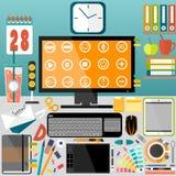 Mitt skrivbord, affär, kontor Fotografering för Bildbyråer