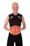 mitt- spelare för basketforties Arkivfoto