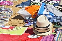 Mitt ställe på stranden arkivfoto