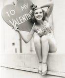 mitt till valentinen Royaltyfri Fotografi