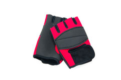 Mitt Training Gloves. Red Punch Mitt Training Gloves isolated Royalty Free Stock Image