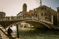 Mittag in Venedig Lizenzfreie Stockfotos