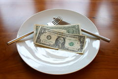 Mittagessen 2dollar Stockfotos