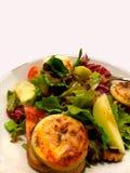 Mittagessen-Abendessen-Salat gegrillte Käse-Apple-Tomate lizenzfreie stockfotografie