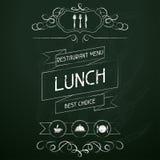 Mittagessen auf der Restaurantmenütafel lizenzfreie abbildung