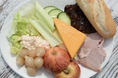 Mittagessen des Ploughmans Lizenzfreies Stockfoto