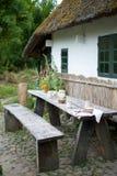 Mittagessen eingestellt in ein Dorf Lizenzfreies Stockbild