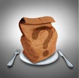 Mittagessen-Frage stock abbildung