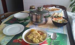 Mittagessen gedient Stockfoto