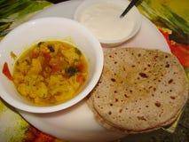 Mittagessen in Indien Stockbilder