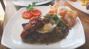 Mittagessen-Menü im Hotel Bali lizenzfreie stockbilder