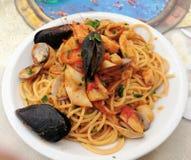 Mittagessen in Neapel Stockbild