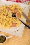 Mittagessen, Teigwaren für Kinder Stockbild