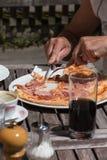 Mittagessenpizza aus Italien Lizenzfreies Stockfoto