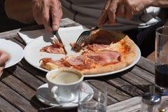 Mittagessenpizza aus Italien Stockfotografie