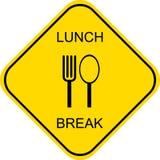 Mittagspause - Vektorzeichen Stockfoto