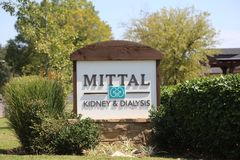 Mittal Kidney and Dialysis Cente, Memphis, TN. Mittal Kidney and Dialysis a full service provider for individuals who are in need of Dialysis and other kidney Stock Image