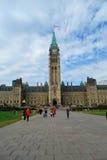 Mitte-Block des Parlaments-Hügels Lizenzfreie Stockfotografie