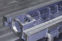 Mitte CNC-maschineller Bearbeitung stockfotografie