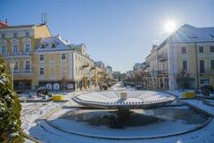 Mitte der Badekurortstadt Frantiskovy Lazne Franzensbad - Tschechische Republik lizenzfreie stockfotos