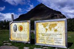 Mitte der Erde entsprechend Jules Verne in Island lizenzfreie stockbilder