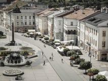 Mitte der Stadt Banska Bystrica, Slowakei Lizenzfreies Stockbild